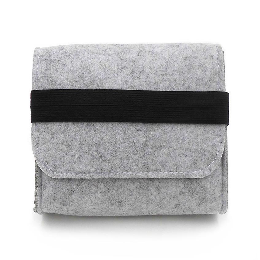 New Cheap Felt Storage Bag Mini Power Bank Case Travel Organizer For Digital Accessories Portable Gadget Pocket Pouch
