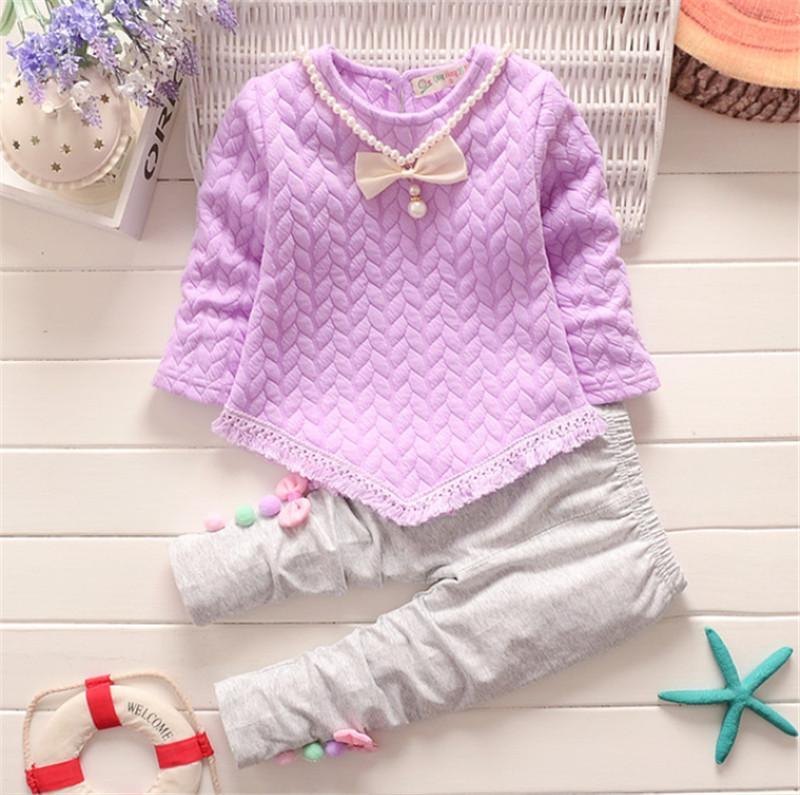 Frühling Herbst Mädchen Kleidung Sets Kinder Mädchen Casual Tops Bluse + pants 2 stücke Kleidung Anzug für Kinder Mädchen Mode Outfits Anzug