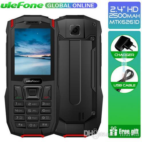 "Ulefone Armor Mini Waterproof IP68 Outdoor Mobile Phone Wireless 2.4"" MTK6261D 2500mAh 0.3MP Dual SIM Rugged Phone 32MP RAM Mobile Phone"