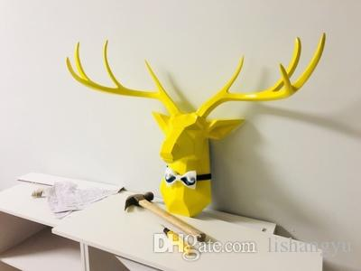 2018 Animal Deer Head Wall Hanging Wall Decoration Simple Modern ...