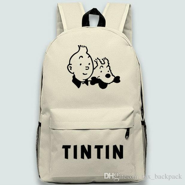 Zaino The Adventures of Tintins Zaino Tintin Zaino scolastico Cartone per il tempo libero Zaino di qualità Zaino sportivo Zaino outdoor