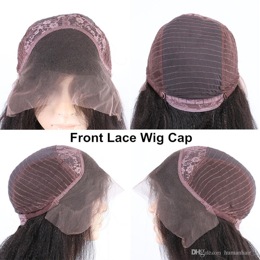 Cabello humano U parte peluca de encaje gorra Mediano tamaño encaje peluca Caps con correas ajustables