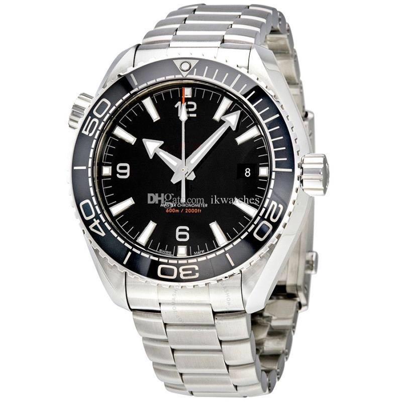 자동 시계 사업이 망 뜨거운 판매 기계 스테인레스 스틸 손목 시계 투명 유리로 돌아 가기 (323) 시계