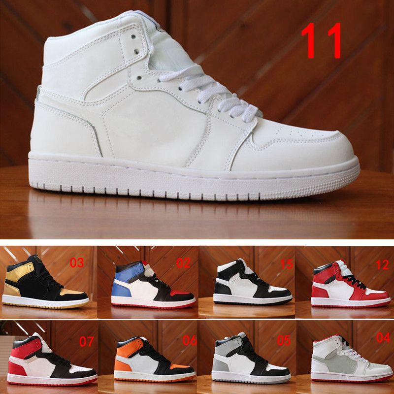 الكلاسيكية 1s أحذية كرة السلة ولدت تو الملكي أعلى 3 الذهب تحطمت اللوحة الخلفية الظل لعبة شيكاغو الرجال النساء أحذية رياضية