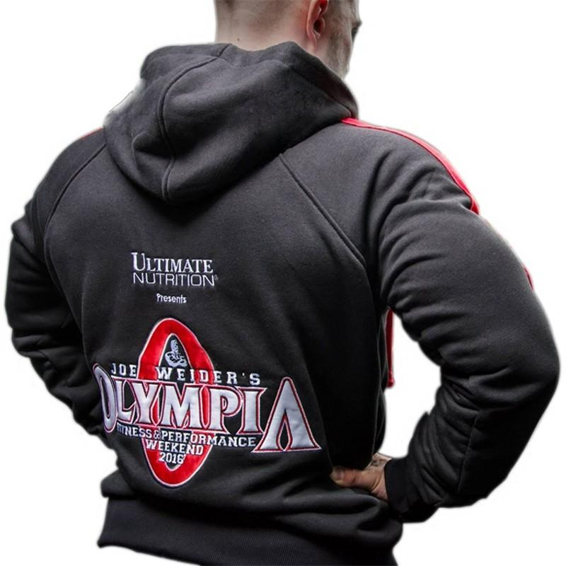 0ad3703bf 2018 Olympia Men Gyms Hoodies Gyms Fitness Bodybuilding Sweatshirt Crossfit  Pullover Sportswear Male Workout Hooded Jacket Clothing From Honry, ...