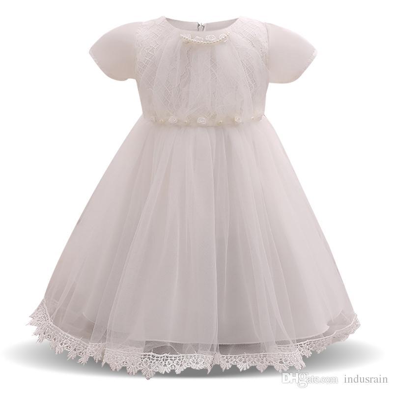 Großhandel Baby Blumenkleider Für Hochzeiten 1 Jahr Baby Mädchen Geburtstag Kleid Taufe Kleid Infant Party Kleid Für Mädchen Vestido Batizado Von