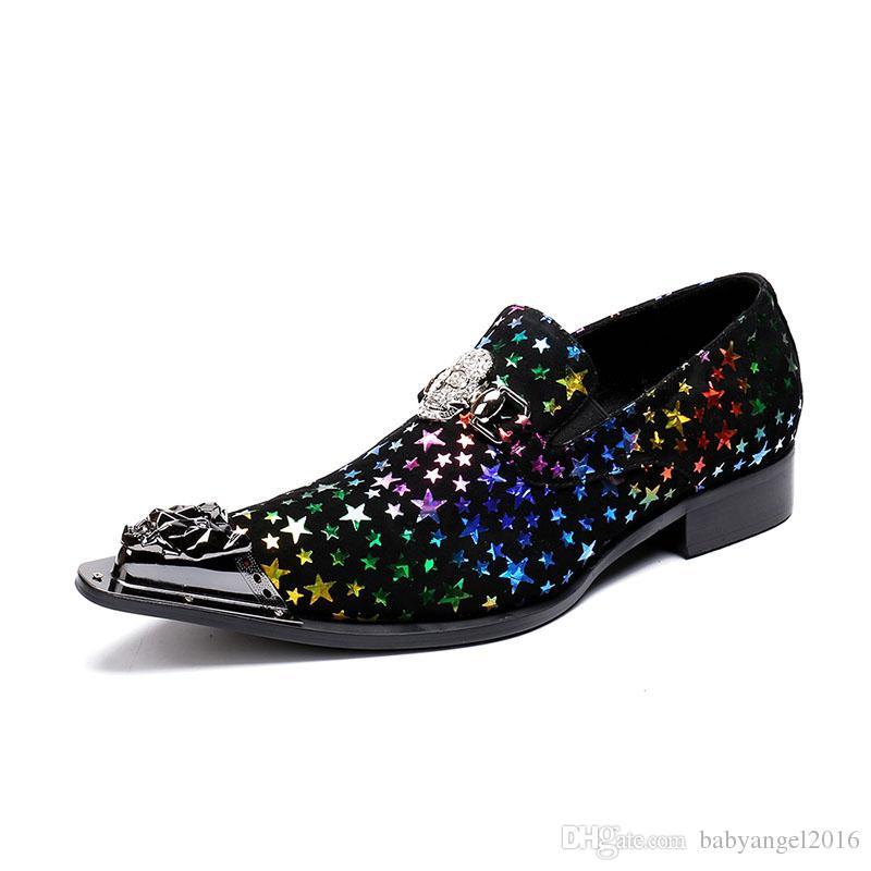 Moderne Herren Formale Veloursleder Musterdruck weiße Männer Loafers Hochzeit und Party Männer Kleid Schuhe Mode Herren Wohnungen