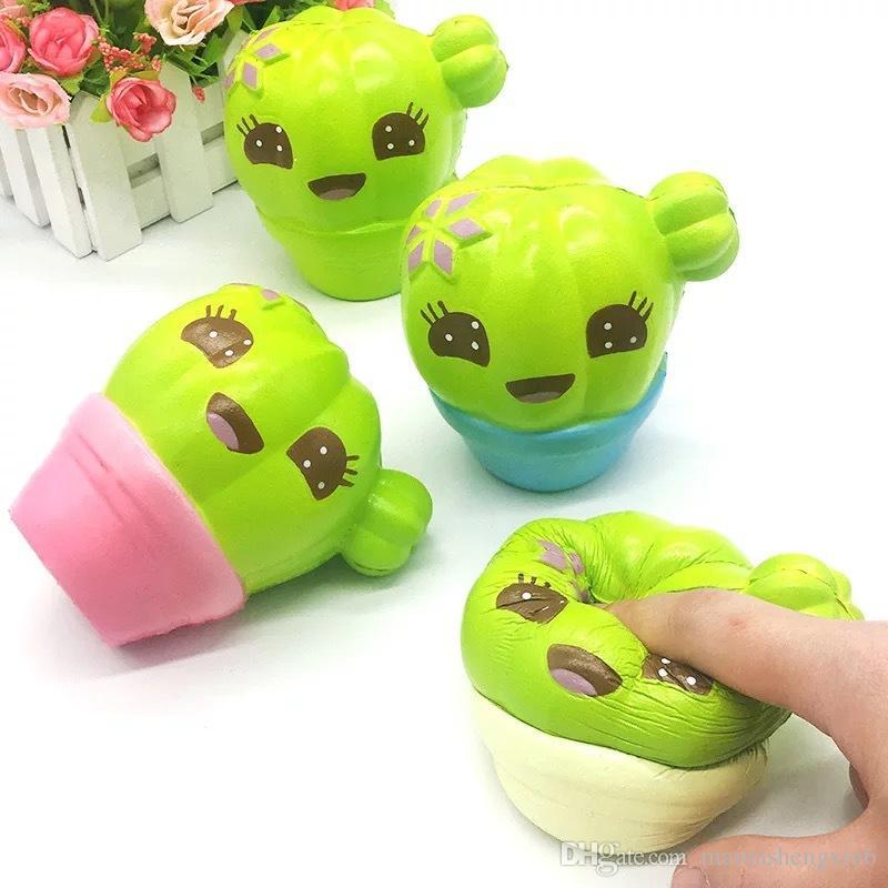 de los niños nuevos blando juguete de descompresión de ventilación PU lenta recuperación de Squishies nopal juguetes lindos regalos para los niños