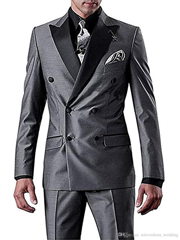 أنيق رمادي الجانب تنفيس يتأهل أفضل رجل دعوى تخصيص بدلات الزفاف البدلات الرسمية للرجال رفقاء العريس البدلة