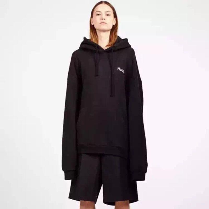 Straße Jogging High Retro Hip-Hop-Vetements und Männer mit Kapuze Mode T-Shirt Langarm Sweatshirts Hoodies Pullover Frauen Lose JKNCT RRLTJ