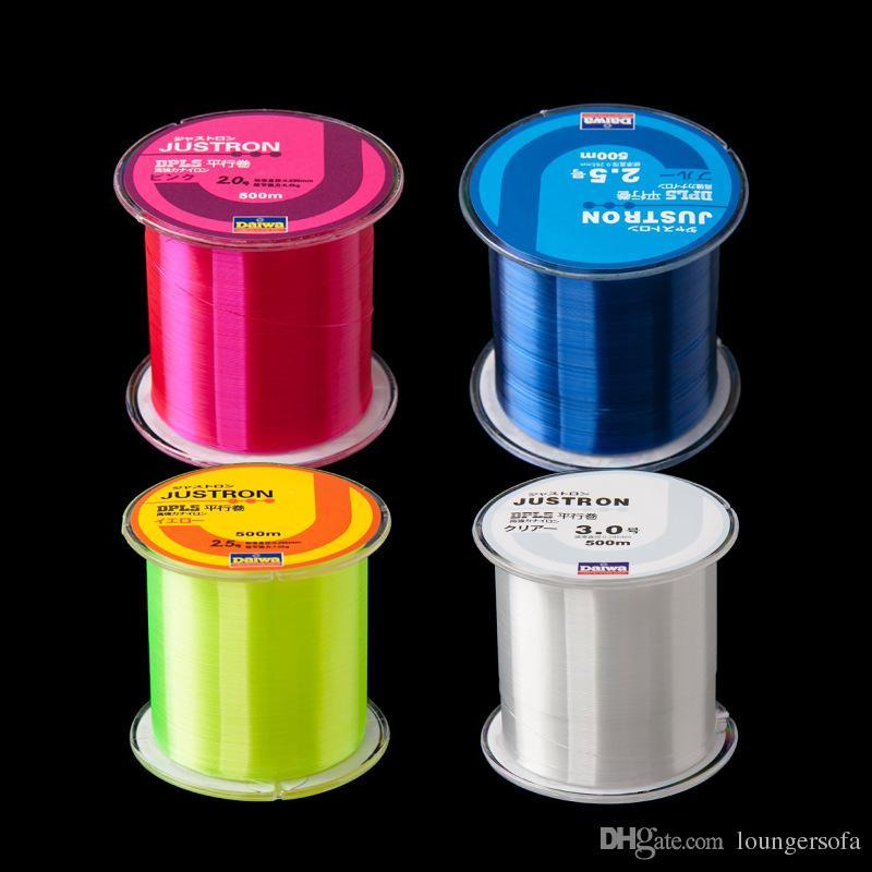 Línea de pesca Super Strong Pull 500m Nylon Raw Silk Wear Resistente No es fácil atrapar a la edad Monofilamento Angling Lines 6yk WW