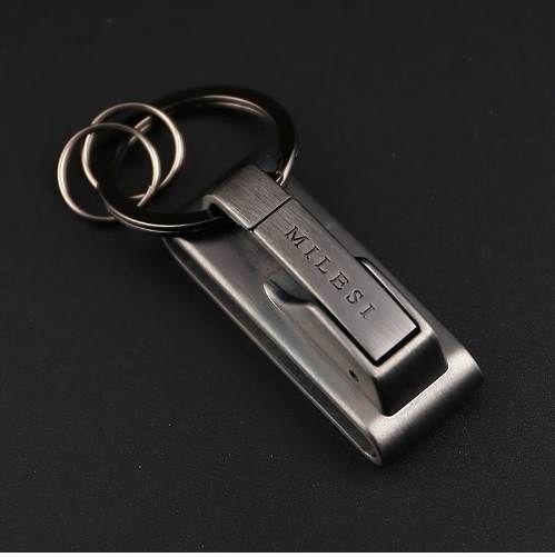 MILESI Metal Anahtarlık Bel asın Erkekler Anahtarlık Charm Anahtarlık Halka Chaveiro Porte Tatil Hediye Mevcut k0125