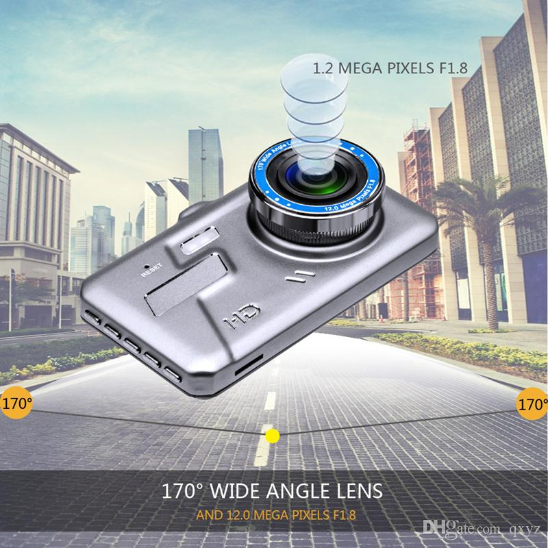 """4.0"""" IPS touch screen car DVR vehicle driving recorder auto video camera 1080P full HD 2Ch starlight night vision G-sensor motion detection"""