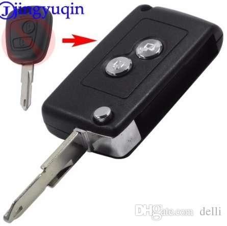 Jingyuqin تعديل 2 أزرار مفتاح السيارة عن بعد حالة شل غطاء لسيتروين c2 c3 كسارا بيكاسوفور بيجو 206 306 406 فوب الغلاف