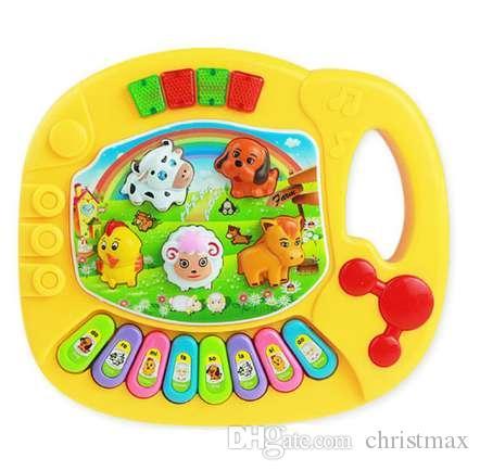 Cutely Baby Kinder Musik Pädagogisches Animal Farm Piano Entwicklungs Musik Spielzeug Große Lerninstrument Werkzeuge Drop Shipping #