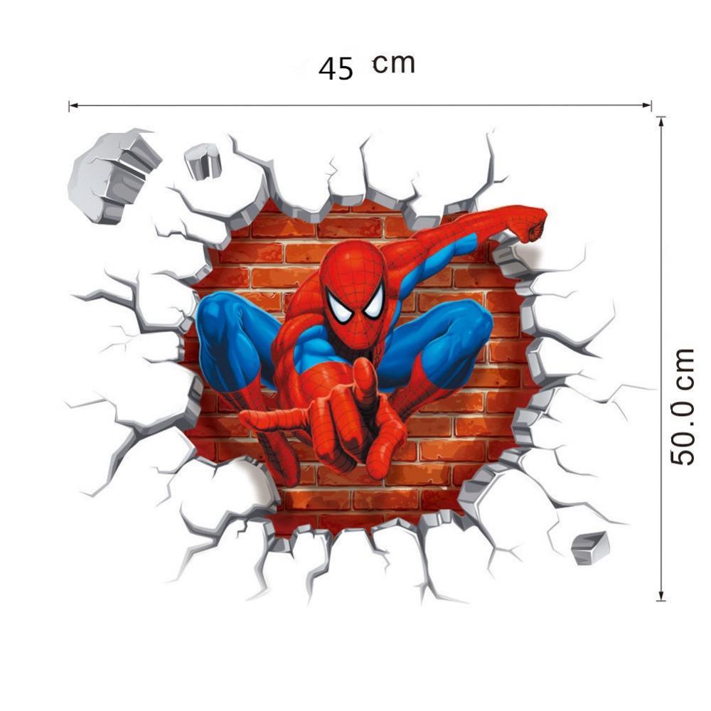 Acheter 3d Spiderman Stickers Muraux Pour Enfants Bricolage