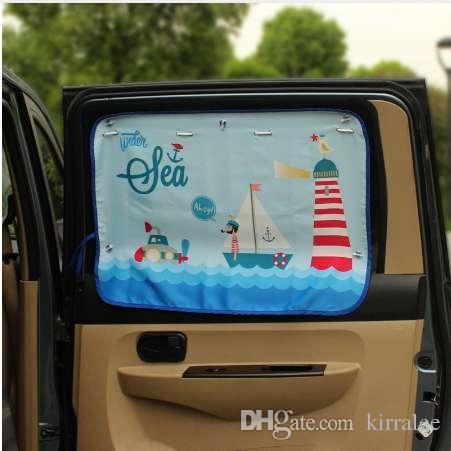 70 * 50cm Auto-Cartoon-Vorhang-Abdeckung Sun Blocking Auto Curtain Side Blocking Zug-Sonnenschutz-Vorhang für Kinder Auto-Styling