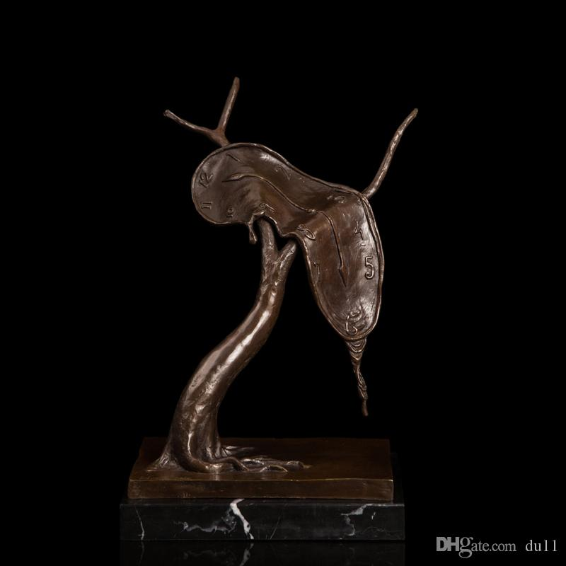 Arts Crafts Copper Abstract High-end gift Bronze Figurine Modern Sculpture Studio Antiques Decoration Time silhouette