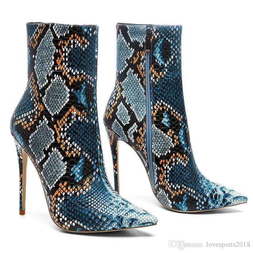 Высококачественные Роскошные Женские Туфли Мода Роскошные Дизайнерские Женские Ботинки Superstars Boots Сексуальные Змеиные Сапоги Женщины Туфли