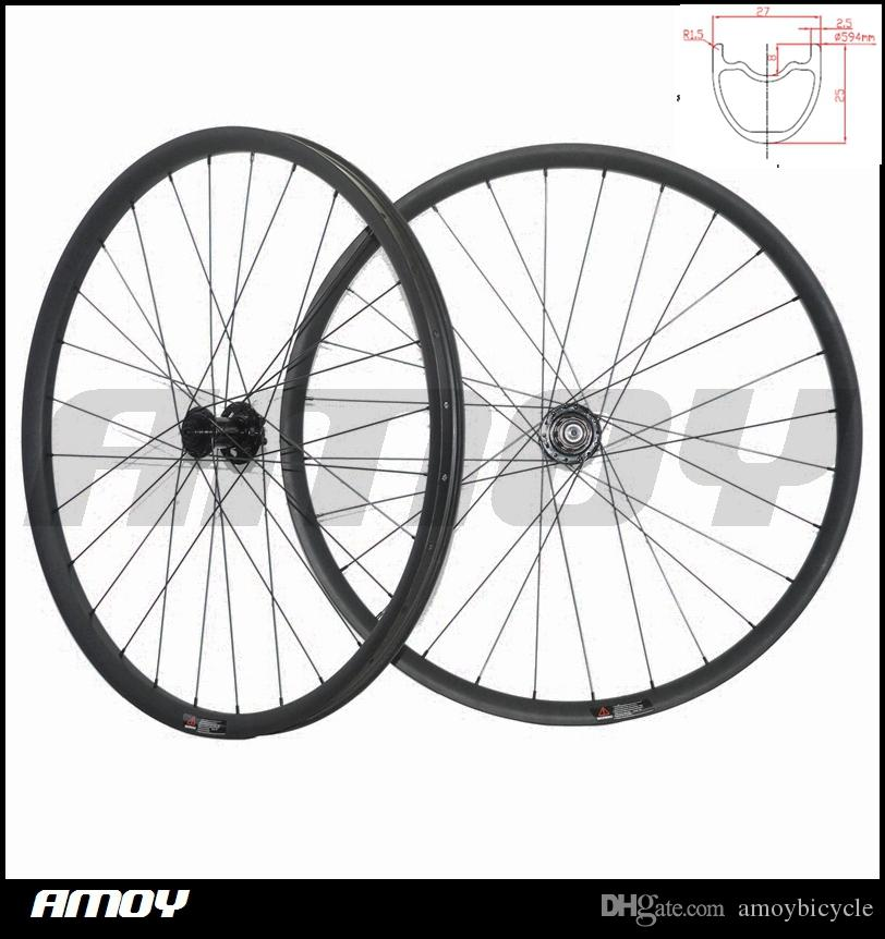 27.5er mtb xc race 27mm offset الدراجة الجبلية الكربون سباق عجلة مجموعة
