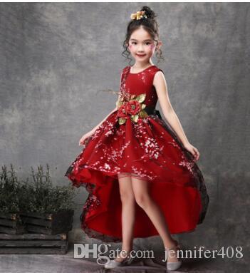 Weilinsha Dantel Sashes Çiçek Kız Elbise Tül Kat Uzunluk Balo Düğün Communion Elbise Custom Made Vestido de Daminha