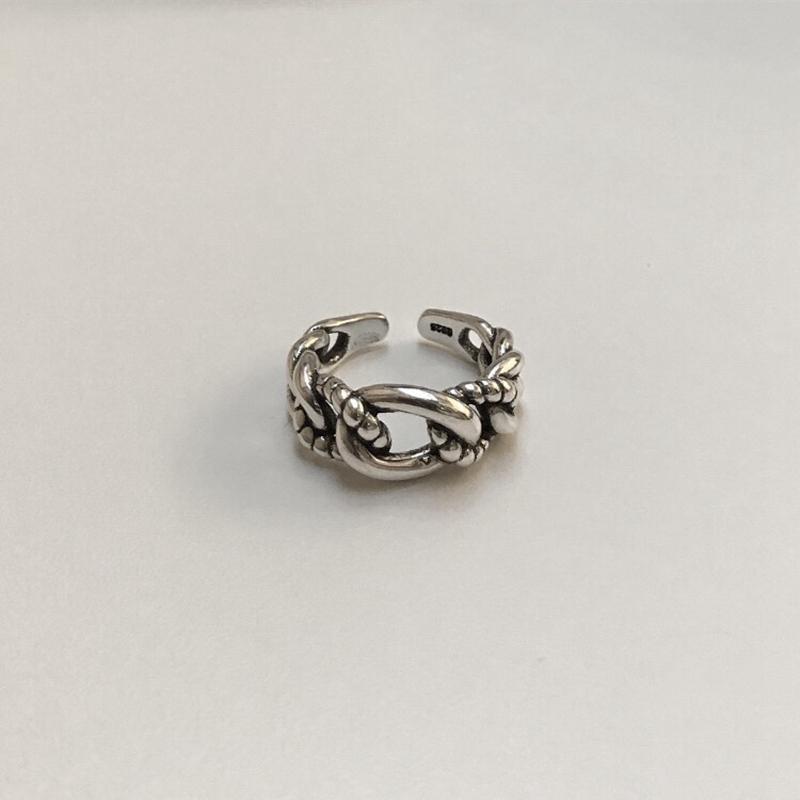 LouLeur 925 anillos de plata esterlina tejido simple temperamento de moda cuerda de cáñamo anillos tejidos para mujeres 2018 joyas de moda y joyas Y18102510