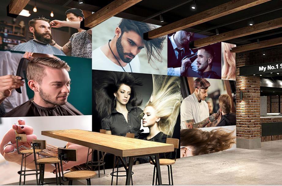 تخصيص 3D جدارية خلفية شخصية سحر الأزياء الإبداعية الشعر صالون تصفيف الشعر 3D صور خلفيات خلفية ستريت