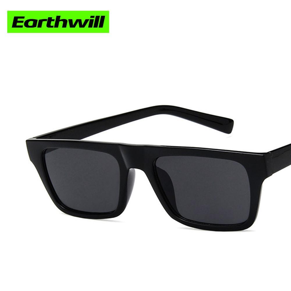 Obiettivo in resina con telaio rettangolare moda retrò 2 stili occhiali da sole opzionali uv400