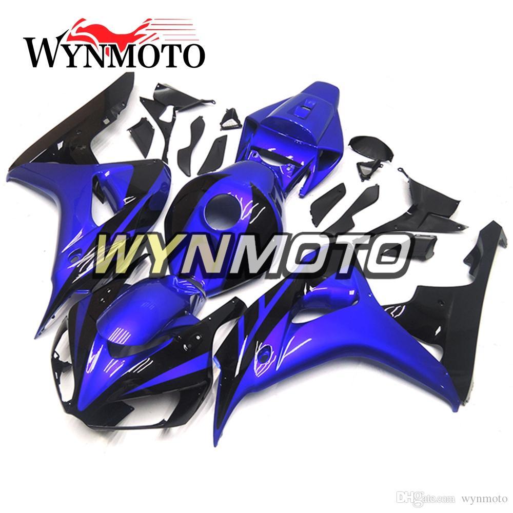 Полный комплект обтекателя мотоцикла для Honda CBR1000RR 2006 2007 CBR 1000RR 06 07 Пластик впрыска ABS Шинни Синий Черный обтекатели кузова Обтекатель