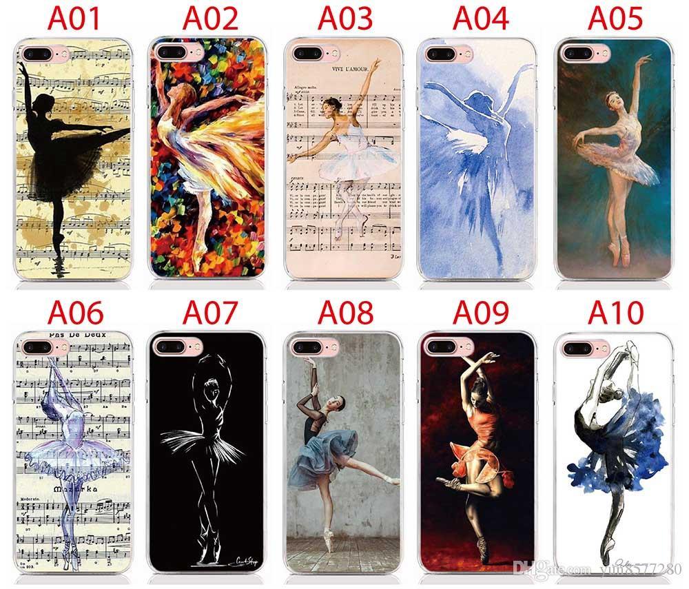Apple IPhone 6 7 8 Plus Ballerina Ragazza Che Balla 2D Paiting Posteriore Cover In Silicone IPhone 4 4S 5 5S SE 6 7 8 X TPU Soft Cover Da Yun8577280, ...