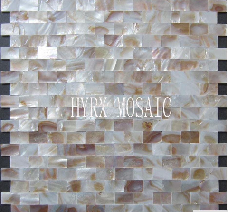 - 2020 Natural Strip Colorful Shell Mosaic Tile Mother Of Pearl