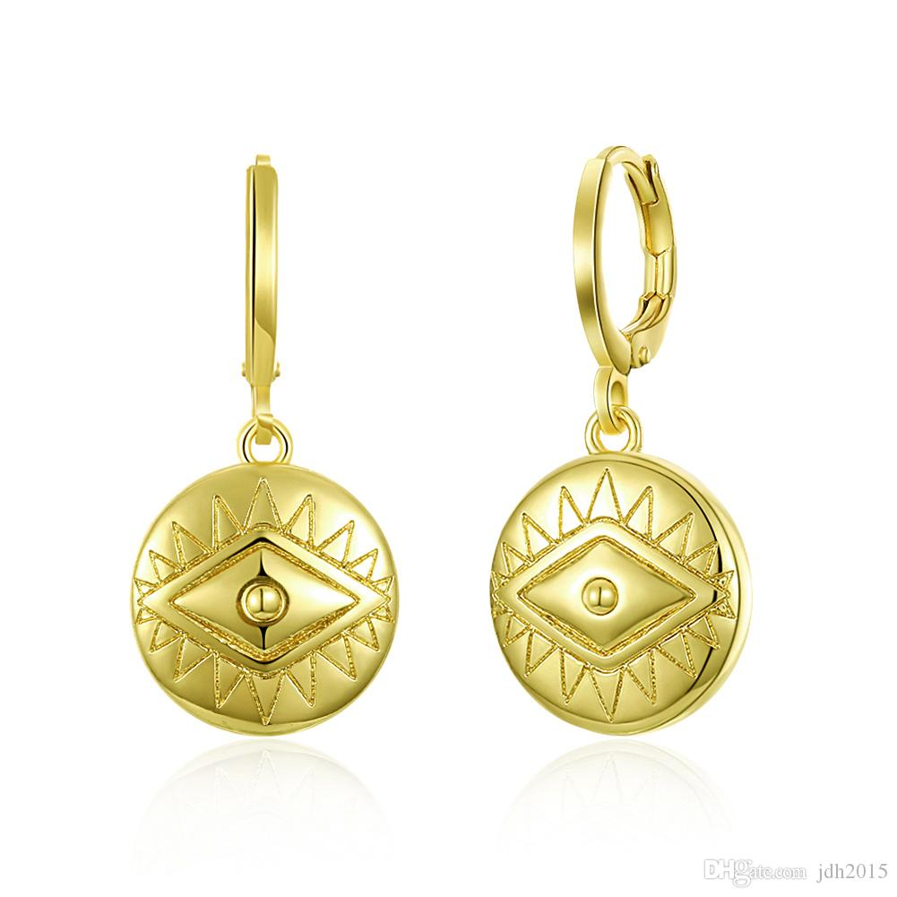 Retro Vintage Egypt Eye Charm Dangling Drop Earrings