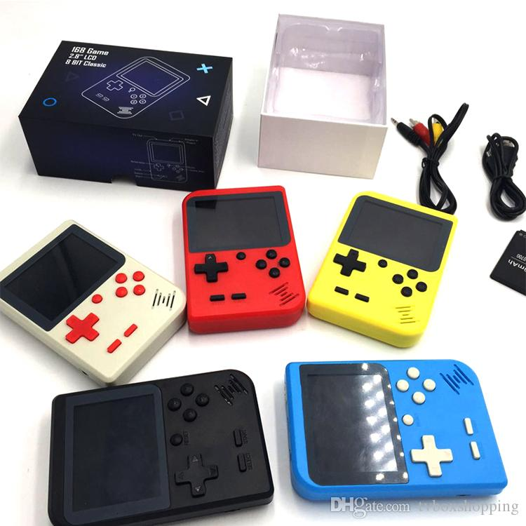 Console de jeux vidéo de poche portable Retro Mini jeu joueurs 400 jeux 3 en 1 AV Jeux Pocket Gameboy LCD couleur