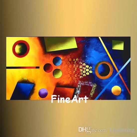 Büyük el yapımı soyut renk resimlerinde art deco yağlıboya güzel soyut sanat tuval boyama yatak odası