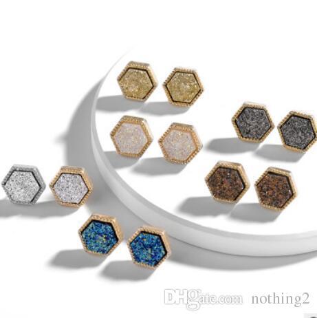 Pendientes de la joyería para las mujeres tachonan Acrlic geometría sencilla rombo cristalina de la manera libre caliente del envío
