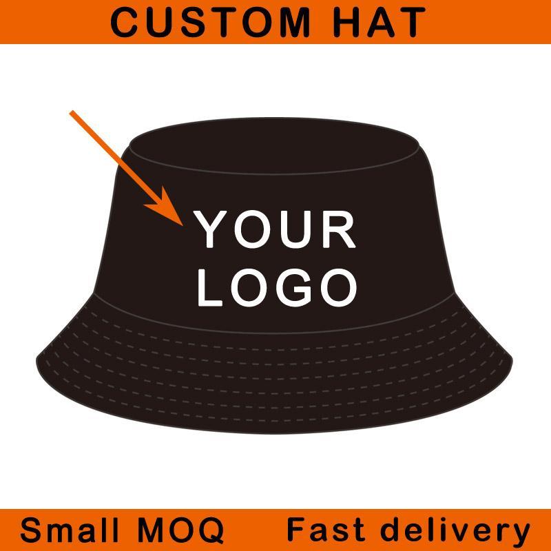 Kova şapka% 100% pamuk malzeme kadın gömme moda şapkalar küçük miktar açık spor balıkçılık şapka özel kova kap
