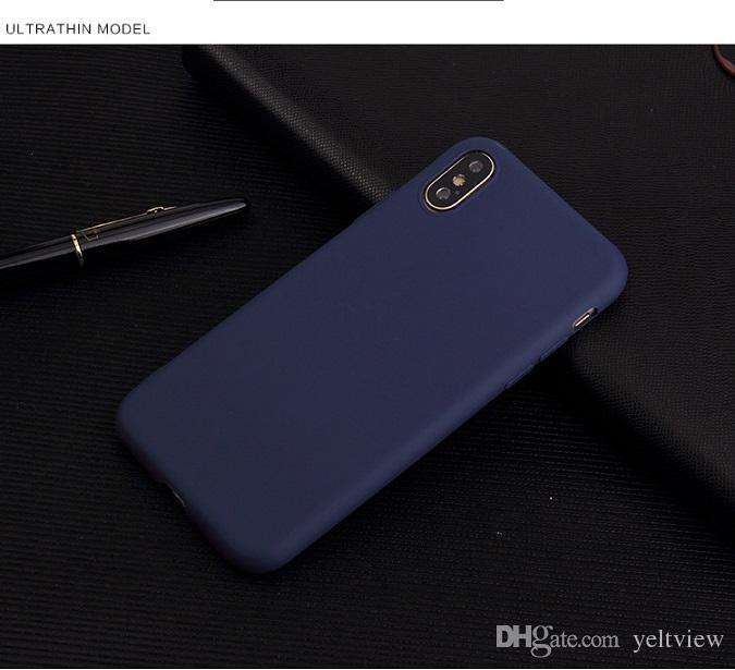 Новые для iPhone xr x xs max 7 8 6 S plus Case ультра тонкий матовый матовый телефон Case Мягкий силиконовый анти-отпечатков пальцев задняя крышка
