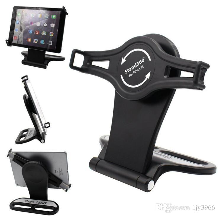 HOT New Wholesale and retail Universal 360°Rotatable Mount Holder Tabletop Stand For iPad/Samsung Tablet PC