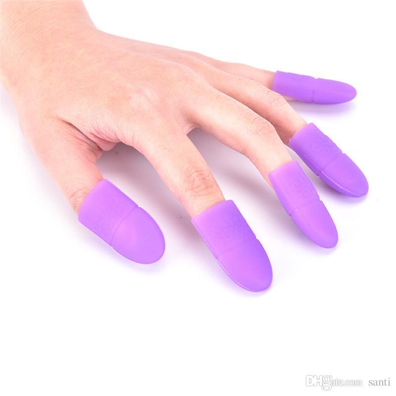 Boa qualidade 5 pcs Nail Art Gel Polonês Removedor Cap Silicone Soak Off Cap Clipe Gel Removedor Cap Manicure Ferramentas de Limpeza