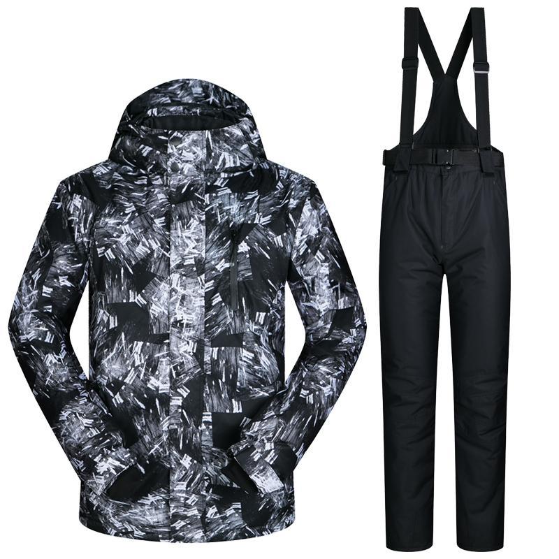 2018 Men Snow Ski Suit Windproof Waterproof Breathable Men's Snowboard Clothes Teenagers Winter Jacket And Pants Hiking Coat