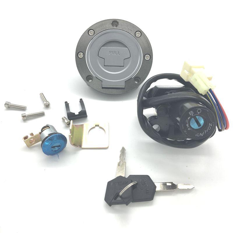 Interrupteur d'allumage de moto Bouchon de gaz de carburant Verrouillage du siège de clé pour Yamaha YZF-R6 2003-2005 YZF-R1 2002-2003 XJ6 XJ6F XJ6N 2009-2015 FJ09 2015-16