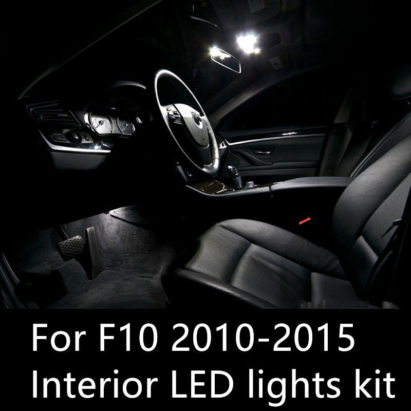 Shinman 19 adet hata ücretsiz LED İç Işık Kiti BMW 5 serisi F10 528i 535d 535i 550i 2010-2015 için