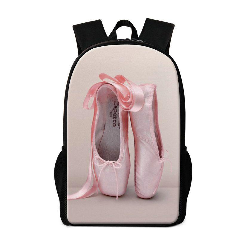 Cute Teen Girls Backpack Ballet Design School Bookbag Fashion Pink Rucksack Children travel Back Pack Primary Students Schoolbag Day Pack