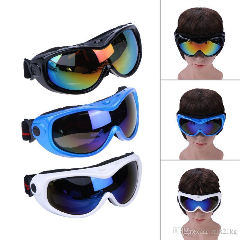 عالية الجودة الرمال واقية الرياضة في الهواء الطلق تسلق الجبال طبقة واحدة تزلج نظارات حماية العين الأطفال المراهقين التزلج نظارات