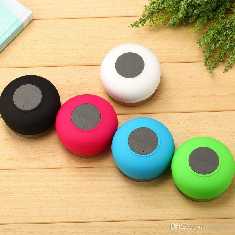 높은 사운드 품질 방수 블루투스 스피커 미니 욕실 무선 샤워 스피커 핸즈프리 휴대용 스피커폰 MOQ : 20PCS