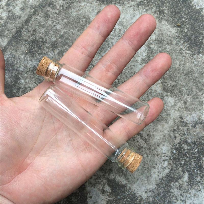 Mini empty glass bottles with Wood lid 18806mm 13ml small glass jars glass vial4