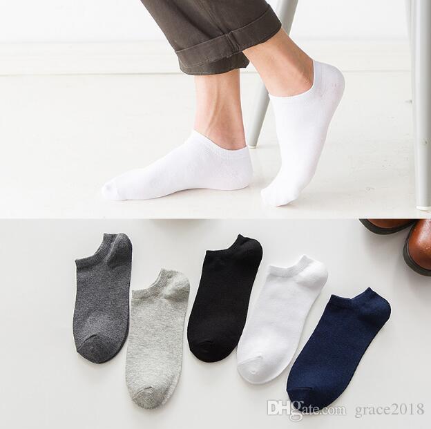 Men's Sports Socks 5colors Men cotton Elastic Breathable Basketball Football Sports Sock Running Ankle Socks free shipping