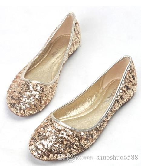 Heißer Verkauf neue Pailletten Kleid Schuhe Design große Größe Lady Party Abend Schuhe Braut Hochzeit Schuhe Shuoshuo6588