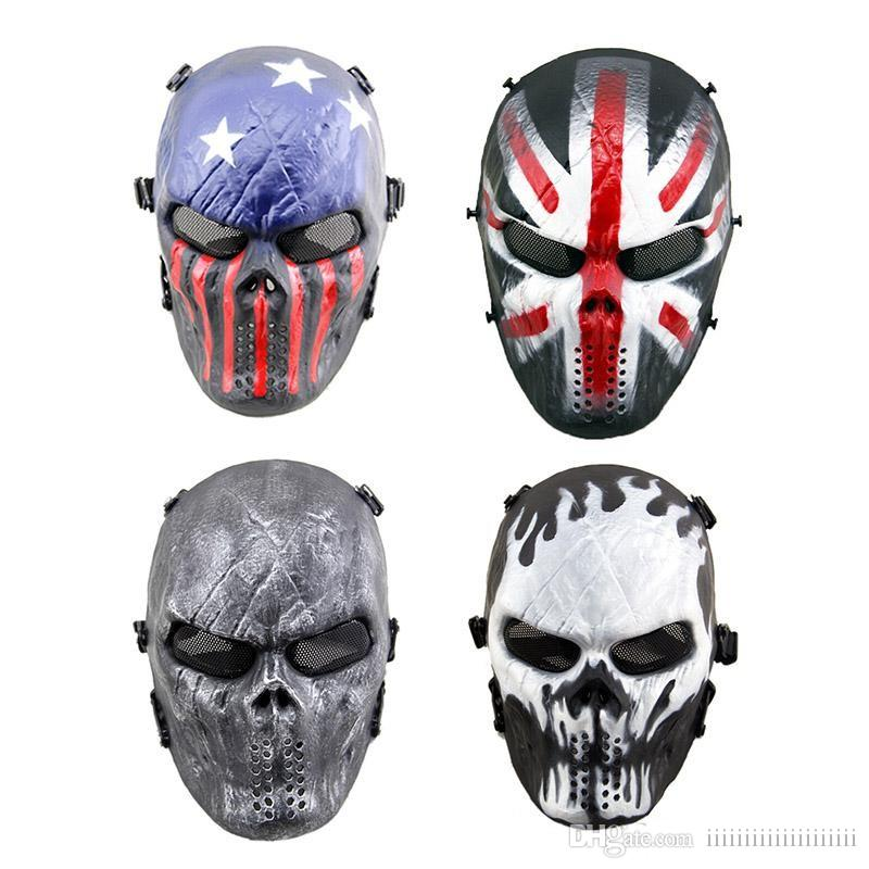 Halloween Full Tactical Skull Airsoft Mask Masquerade Masks For Men Outdoor Paintball Facemask Skeleton Skull Face Protection Tactical Hood Masquerade Mask For Women Masquerade Mask Men From Iiiiiiiiiiiiiiiiiiii 10 87 Dhgate Com