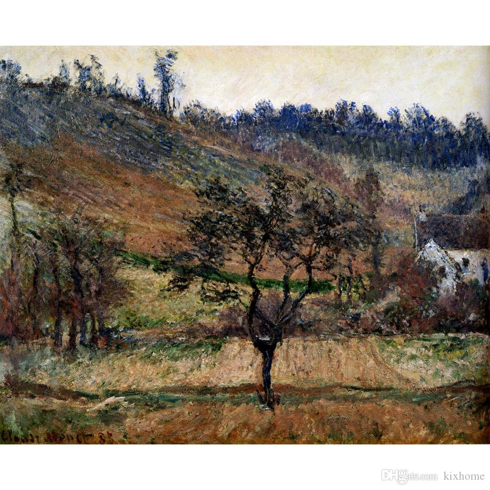 Handmade Art Gift Claude Monet Reproduction The Valley Of Falaise Modern paintings for living room